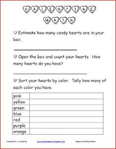 Classroom Freebies Too: Valentine's Day Math!