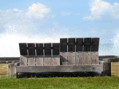 Reclaimed ironwood double balok sunbed, designed by David van der Gulik for Kayu Naga.