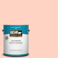BEHR Premium Plus, 1-gal. #210A-2 Coral Dune Zero VOC Satin Enamel Interior Paint, 705001 at The Home Depot - Tablet