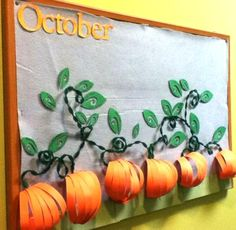 28 Awesome Autumn Bulletin Boards to Pumpkin Spice Up Your Classroom – Bored Teachers The Fall season is officially underway! Time to take down your Back-to-School decorations and replace them with some Autumn-themed fun. October Bulletin Boards, Halloween Bulletin Boards, Preschool Bulletin Boards, Bulletin Board Display, Classroom Bulletin Boards, Fall Classroom Door, Autumn Display Classroom, Seasonal Bulletin Boards, Bulletin Board Borders