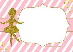 Nice FREE Golden Ballerina Birthday Invitation Templates Tutu Invitations, Christening Invitations Girl, Free Printable Birthday Invitations, Ballerina Birthday Parties, Ballerina Party, Angelina Ballerina, Best Friend Birthday Cards, Templates Printable Free, Birthday Party Decorations