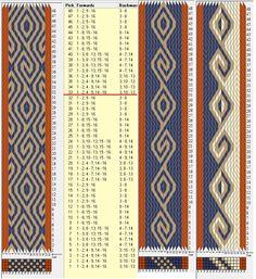16 tarjetas, 3 / 4 colores, repite cada 32 movimientos // sed_578 diseñado en GTT༺❁