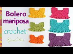 Crochet Colorful Baby Jackets Tutorial - ilove-crochet