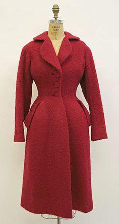 Coat  Charles James (American, born Great Britain, 1906–1978)  Date: 1951 Culture: American Medium: wool