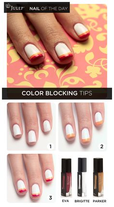 Nail of the Day: Color Blocking Tips #nails