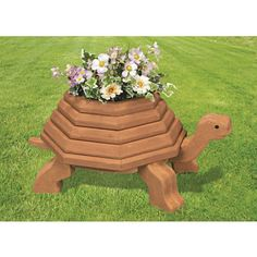 Mary Maxim - 2X Tortoise Planter Wood Pattern - New Items