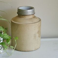 Stoneware Crock | Antique Stoneware Fruit Jar or Crock by tracinicole on Etsy