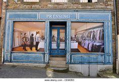 trompe l'oeil shop shutters - Orne, Normandy