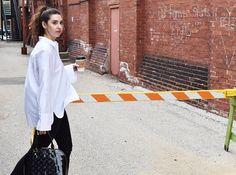 Black and White classic style | Vol 1, H&M white cotton shirt, ASOS black skinny ripped jeans, Louis Vuitton alma bag, Michael Kors black leather tennis shoes