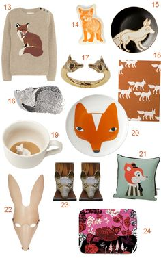 There's been a proliferation of fox fashions and furnishings over the last year, and the little orange guy is slowly moving into the mainstream. While West Elm and CB2 haven't embraced the sly guy just yet (the owl is still … Continue reading →