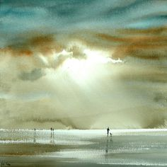 Watercolor art - Light Watercolors by British Artist Keith Nash – Watercolor art Watercolor Artists, Watercolor Paintings, Watercolours, Watercolor Trees, Seascape Paintings, Indian Paintings, Watercolor Portraits, Oil Paintings, Painting Art