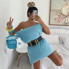 Stylish Starlets: Trendy or Tacky? Jogging, The Cheetah Girls, Social Media Challenges, Pillow Dress, Matching Pjs, V Instagram, Style Challenge, Belted Dress, Daily Fashion