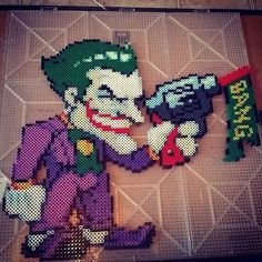 The Joker perler beads by perler_train