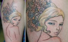One of the girls from Audrey Kawasaki's Two Sisters.