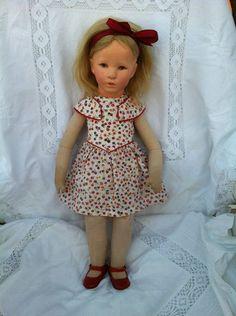 Käthe Kruse Puppe mit Stoffkopf, deutsches Kind,30er Jahre! | eBay