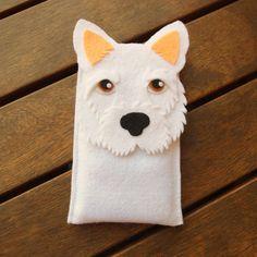 West Highland Terrier iPhone Case Pies Felt Telefon przez LayonStore