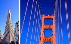 #Transamerica #Pyramid & #Golden #Gate #Bridge in #San #Francisco © Susanne Zöhrer