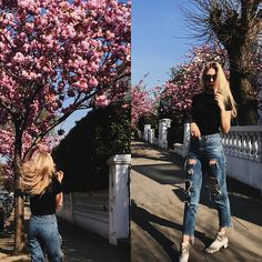 More looks by Eleonore Marie Stifter: http://lb.nu/couturedepartment #casual #minimal #street #couturedepartment #cherryblossom #london