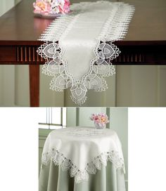 Elegant Lace Decorative Table Linens