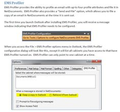 Is there a setting with ndOffice to either keep an email in Outlook or delete it once it's been profiled, like there was with EMS Profiling? I thought there was, but I can't seem to find it now. T...