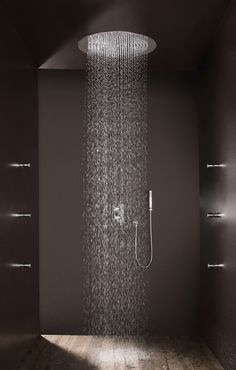 The Best Best 9 Wonderful Rain Shower Ideas For Your Bathroom The bathroom is one place that can be a source of inspiration for you. Moreover, coupled with the presence of a unique shower in your bathroom. Bathroom Interior, Home Interior, Modern Bathroom, Small Bathroom, Dyi Bathroom, Interior Colors, Interior Livingroom, Interior Modern, Washroom