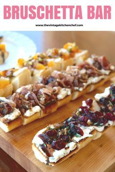 Create your own Bruschetta Bar! It's and an easy and different way to add an appetizer to a meal, a party or a fun way to serve dinner to your family!