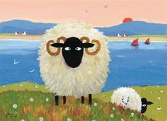 silly sheep on canvas | 1000+ images about Down on the farm on Pinterest | Sheep, Farm ...