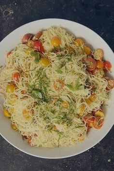 Ina Garten Swears by This Summer Pasta Recipe - recipes - Pasta Rezepte Summer Pasta Recipes, Easy Pasta Recipes, Appetizer Recipes, Recipe Pasta, Summer Pasta Dishes, Angel Hair Pasta Recipes, Wing Recipes, Recipe Recipe, Pastas Recipes