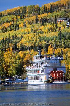 The Riverboat Discovery sternwheeler, Chena River, Fairbanks, Alaska.