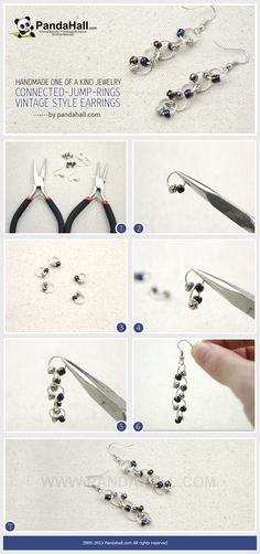 This handmade one of a kind jewelry tutorial is going to you demonstrate you a special way to make vintage style earrings with Tibetan style beads and jump rings.