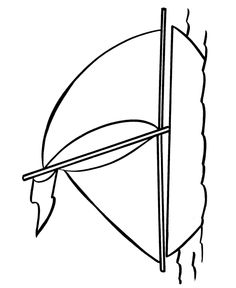 easy coloring pages big sailboat