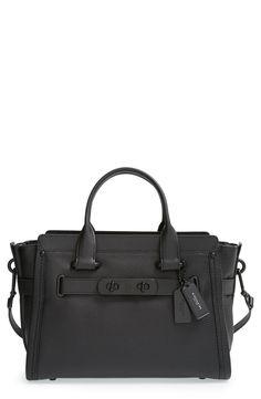 Click to zoom Pebbled Leather, Black Leather Satchel, Coach Satchel,  Satchel Handbags, a892bb61b1