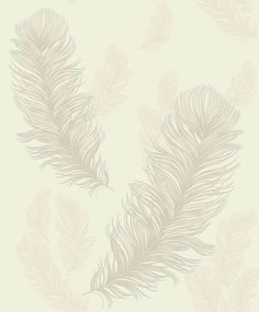 This Precious Metals Sirius Feathers Wallpaper in pearl by Arthouse features a beautiful feather motif with metallic accents. Free UK delivery available Feather Wallpaper, Gold Wallpaper, Wallpaper Paste, Wallpaper Samples, Wallpaper Roll, Pattern Wallpaper, Tapete Gold, Sirius, Forest Mural