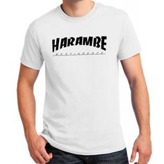 harambe rest in peace b for Large White men T shirt -- Awesome products selected by Anna Churchill