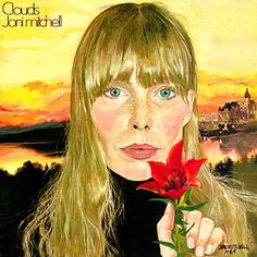 Clouds was Joni Mitchell's second album and won her a Grammy for best folk performance in 1970. Joni Mitchell is also an accomplished painter, this cover is one of her many self portraits