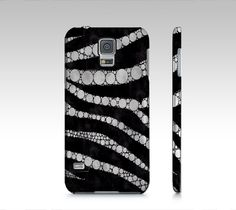Silver Black Zebra Samsung Galaxy5 Case