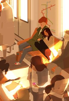...Comfy cosy, tuesday, june 23, 2015. #pascal campion. Couple Drawings, Art Drawings, Pixiv Fantasia, Character Art, Character Design, Pascal Campion, Street Art, Love Illustration, Environment Concept Art
