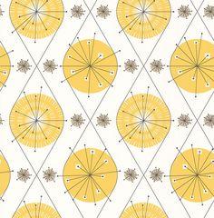 Botanical Bursts  Summer Yellow wallpaper by Layla Faye