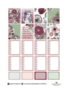 50% OFF SALE / AUTUMN Flowers Printable от PaperCrownPlanner