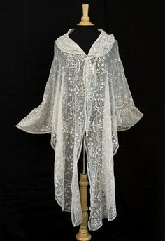 Antique textiles at Vintage Textile: #4128 Dresden embroidered shawl