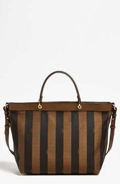 Fendi 'Pequin - Large' Logo Jacquard Tote available at #Nordstrom