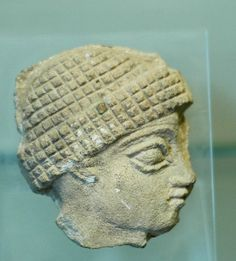 Gudea, ruler of Lagash. Fragment of a stele, Neo-Sumerian Period..The Louvre