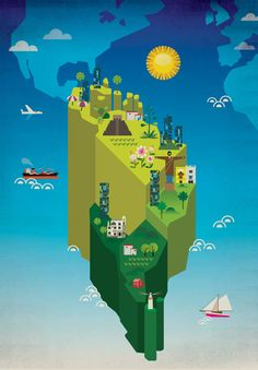 Maps: Latinoamerica, ilustrista by Luciano Lozano