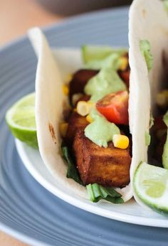 Baked Tofu Tacos