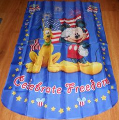 Disney Mickey Mouse Yard Flag 4th of July Celebrate Freedom Proud to be American #Disney