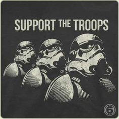 $6 TEE SHIRTS! Fun, geek, 80's throwback and movie references, science and more!  My husband has LOVED their fit, quality cotton, and unique images you wont find anywhere else!  Being both a veteran and Star Wars fan, this was one of his favorites :)  Get a bundle of shirts, cool beer cozies, coffee mugs and more and you'll still spend less than $60 bucks- BAM!
