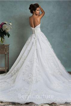 Best Low Back Ball Gown Wedding Dress