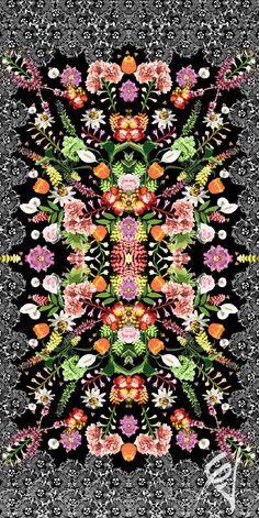 'Floral Alto Verao15' Print designed for MOS Beachwear by CJunqueira Surface Pattern Design --- Estampa 'Floral Alto Verao15' criada para a marca MOS Beachwear pela CJunqueira Estampas // Contact: cjestampas@gmail.com