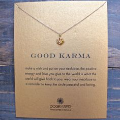 dogeared 'reminder good karma happy lotus necklace' from shophearts. Saved to DESERT WANDERER. Lotus Necklace, Gold Bar Necklace, Diamond Solitaire Necklace, Cluster Necklace, Moon Necklace, Thin Gold Chain, Baguette, Beautiful Necklaces, Karma