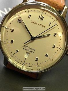 100 jahre bauhaus Quarz Stahluhr 40mm 5 atm - Quartz Armbanduhren - Bauhaus, Omega Watch, The 100, Quartz, Leather Cord, Bracelet Watch, Watches